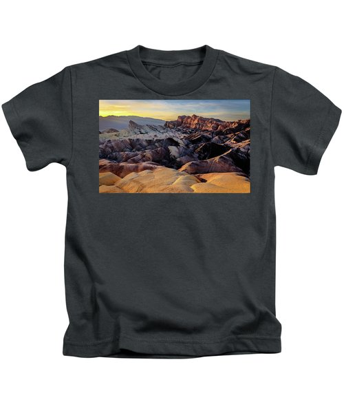 Golden Hour Light On Zabriskie Point Kids T-Shirt