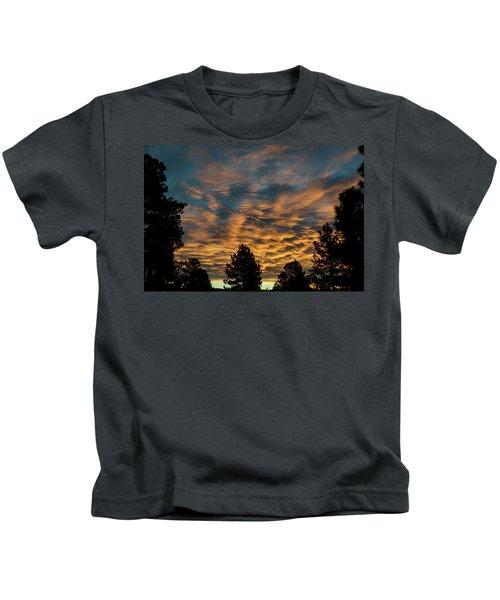 Golden Winter Morning Kids T-Shirt