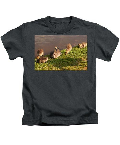 Goslings Basking In The Sunset Kids T-Shirt