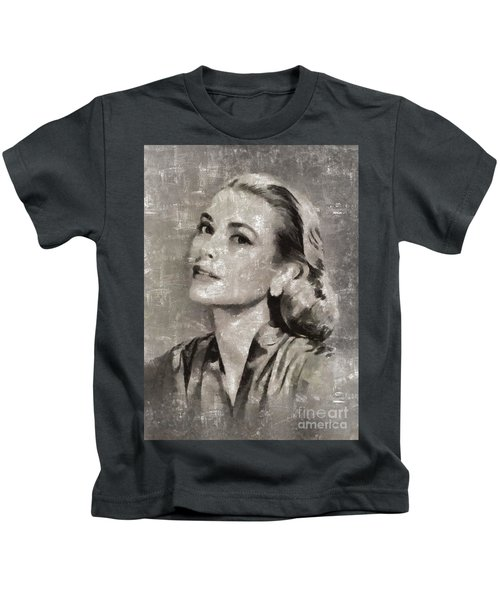 Grace Kelly By Mary Bassett Kids T-Shirt