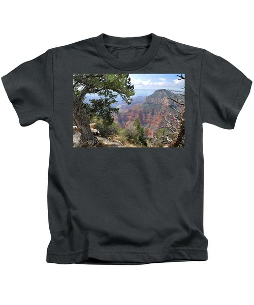 Grand Canyon North Rim - Through The Trees Kids T-Shirt