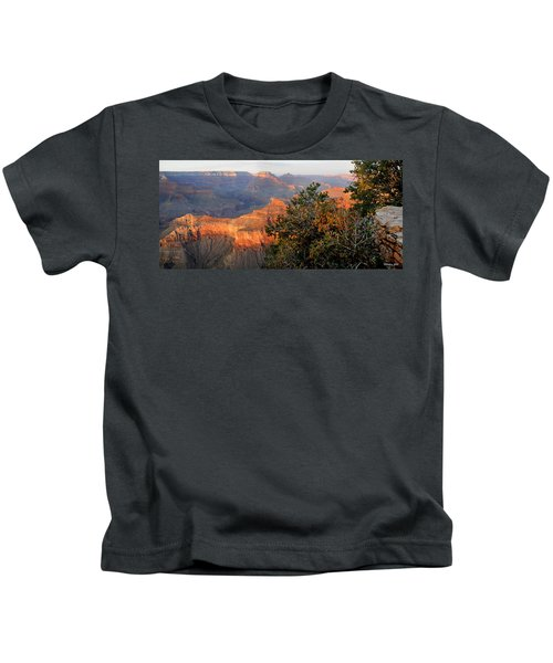 Grand Canyon South Rim - Red Berry Bush Along Path Kids T-Shirt