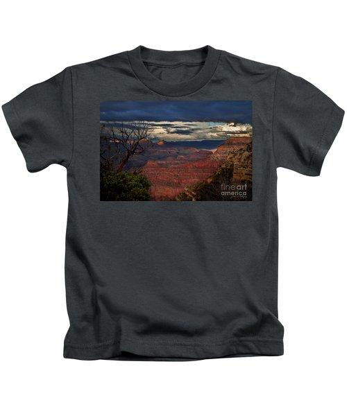 Grand Canyon Storm Clouds Kids T-Shirt