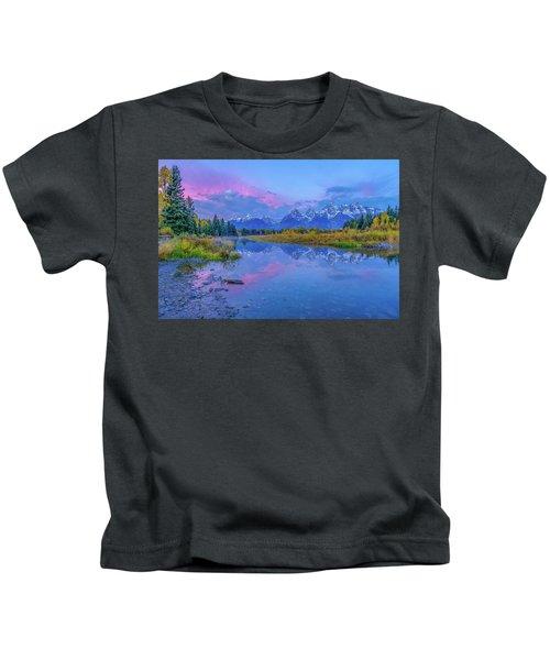Grand Teton Sunrise Kids T-Shirt