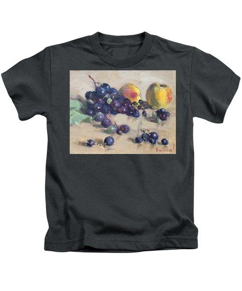 Grape And Peach Kids T-Shirt