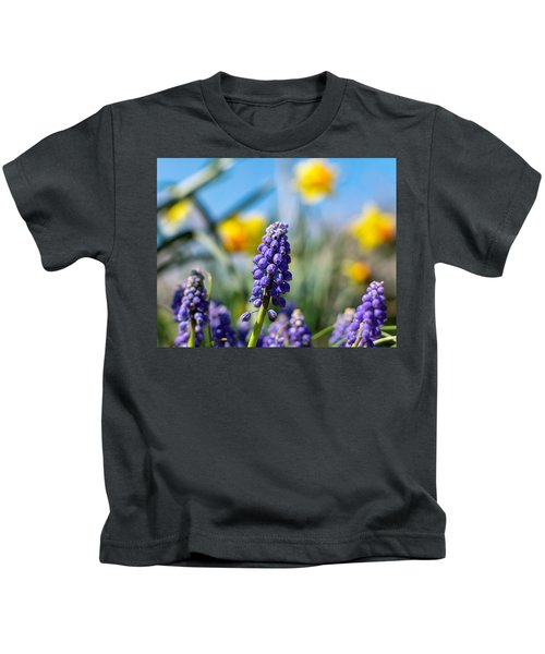 Grape Hyacinth Kids T-Shirt