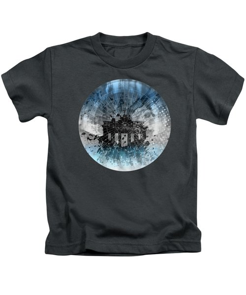 Graphic Art Berlin Brandenburg Gate Kids T-Shirt by Melanie Viola