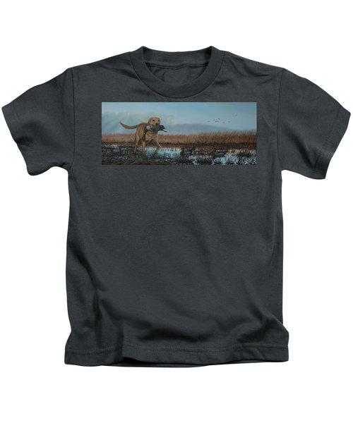 Gray Day Mallards Kids T-Shirt