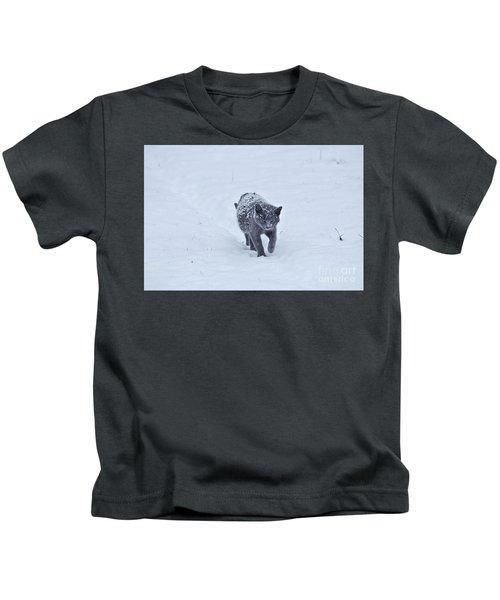Gray On White Kids T-Shirt
