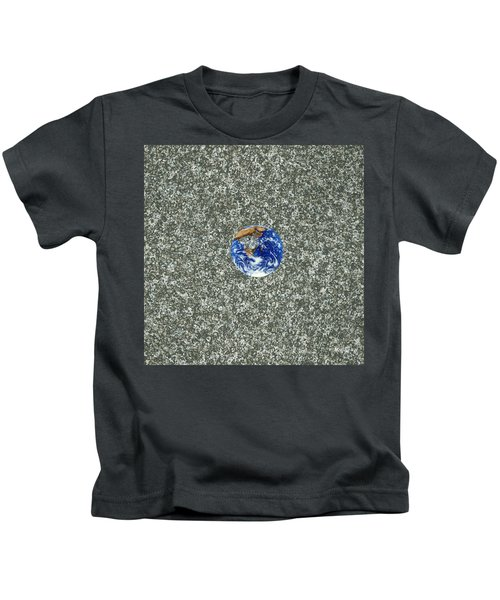 Gray Space Kids T-Shirt
