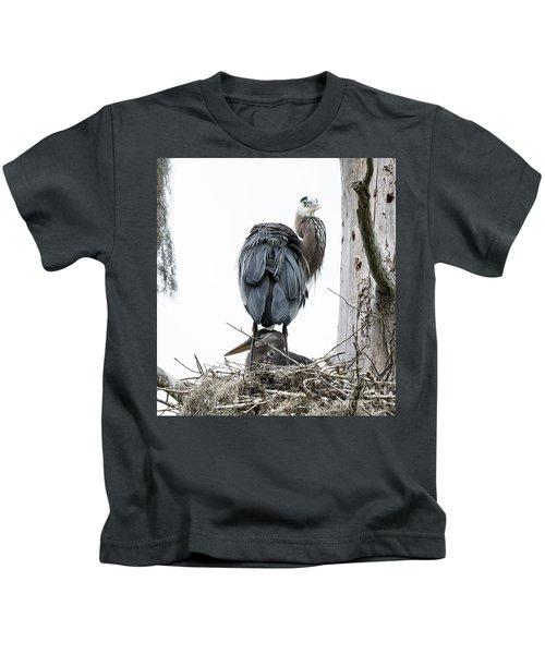 Great Blue Heron Kids T-Shirt