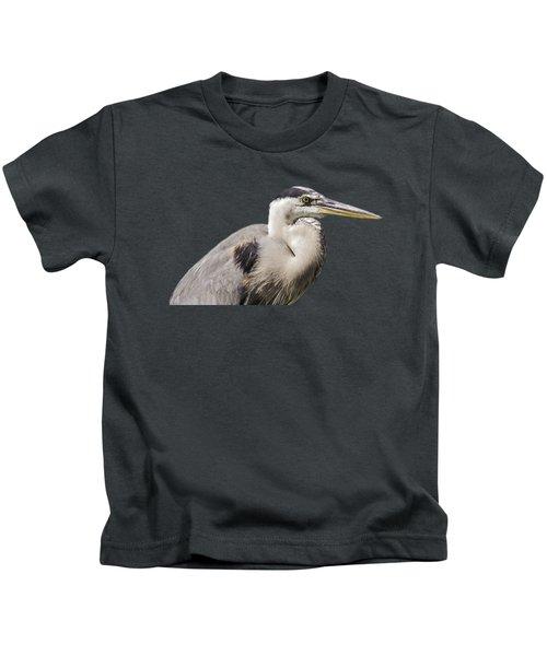 Great Blue Heron Transparency Kids T-Shirt