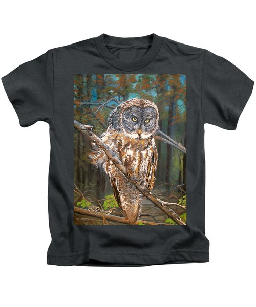 Great Grey Owl 2 Kids T-Shirt