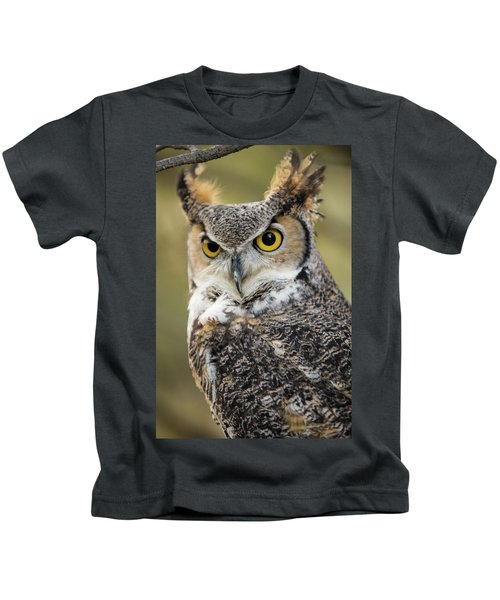 Great Horned Owl Kids T-Shirt