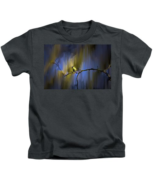 Great Tit On Branch #h3 Kids T-Shirt