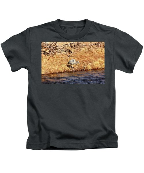 Greatblueheron1 Kids T-Shirt