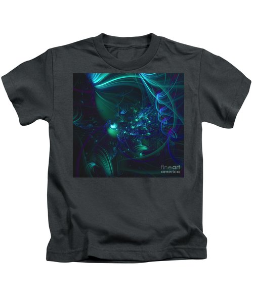 Green And Blue Escape Kids T-Shirt