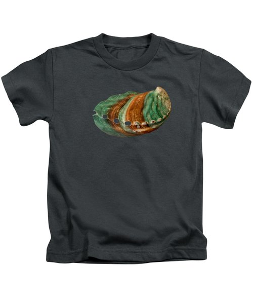 Green And Brown Shell Transparency Kids T-Shirt