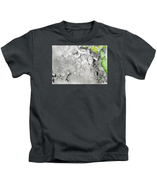 Green And Gray Stones Kids T-Shirt