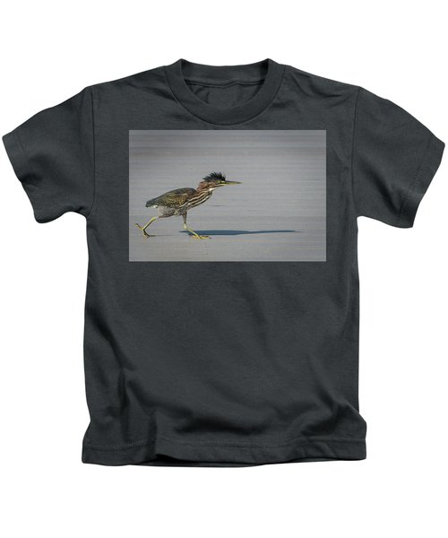 Green Heron On A Mission Kids T-Shirt