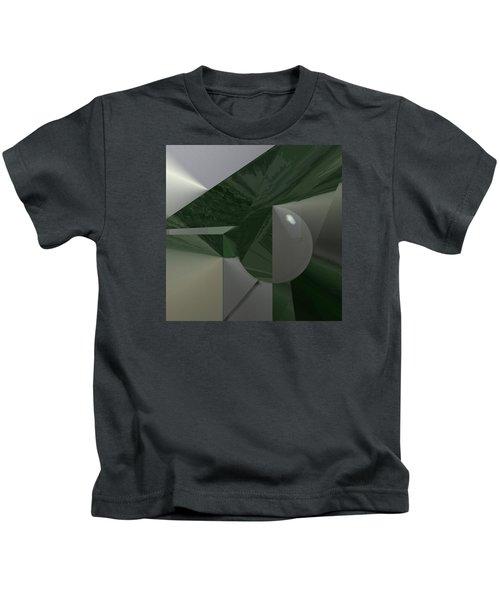 Green N Gray Kids T-Shirt