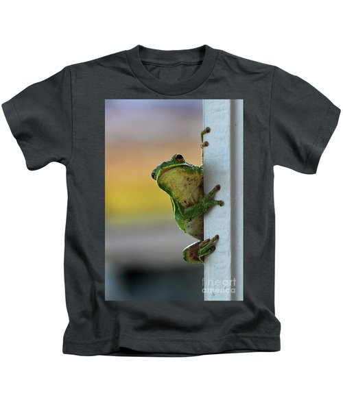 Green Tree Frog  It's Not Easy Being Green Kids T-Shirt