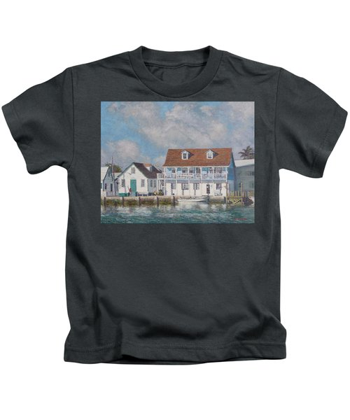 Green Turtle Cay Past And Present Kids T-Shirt