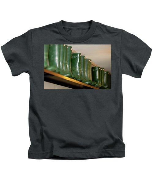 Green Wellies Kids T-Shirt