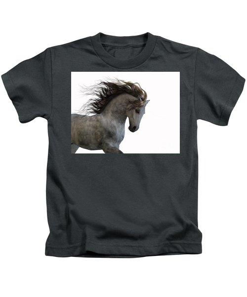 Grey On White Kids T-Shirt