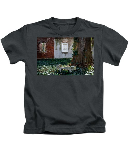 Grieving Bench At St. Philip's Cemetery Kids T-Shirt
