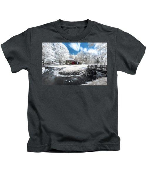Grist Mill In Halespectrum Kids T-Shirt