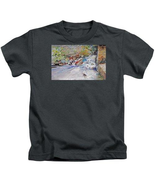 Grist Mill Spill Way Kids T-Shirt