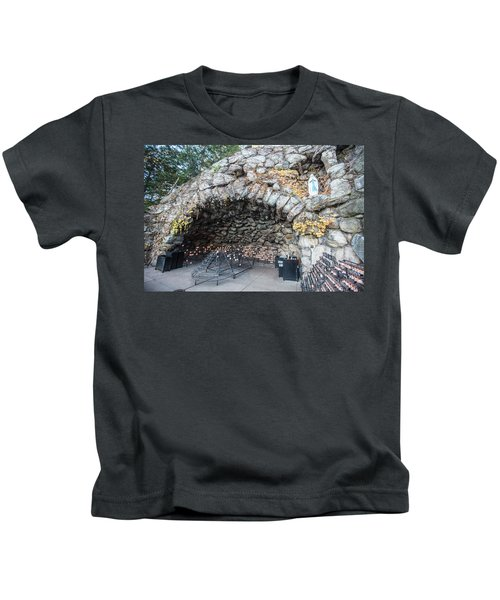 Grotto Of Our Lady Of Lourdes 2 Kids T-Shirt