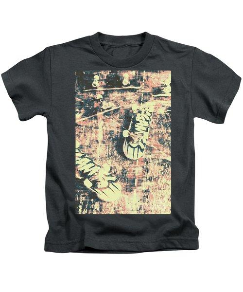 Grunge Skateboard Poster Art Kids T-Shirt