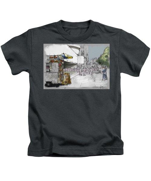 872533802 Guggenheim Museum New York Sketch Kids T-Shirt