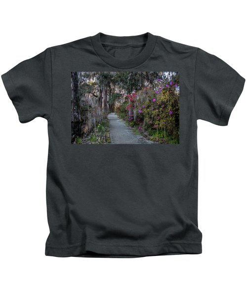 Guide Our Feet Into The Path Of Peace. Luke 1.79  Kids T-Shirt