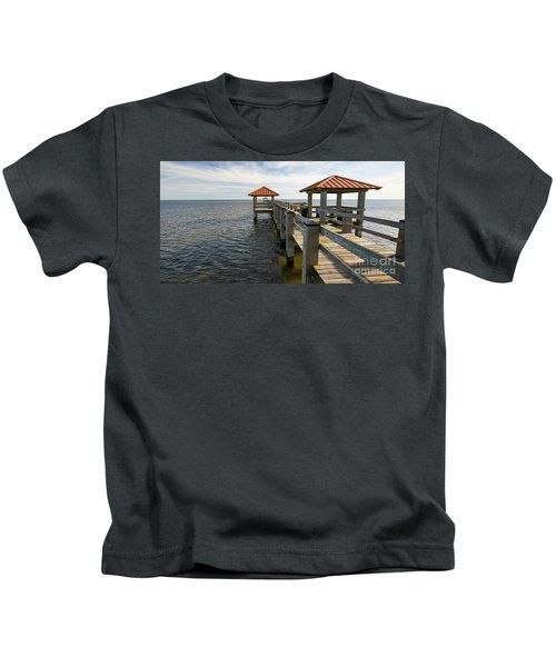 Gulf Coast Pier Kids T-Shirt