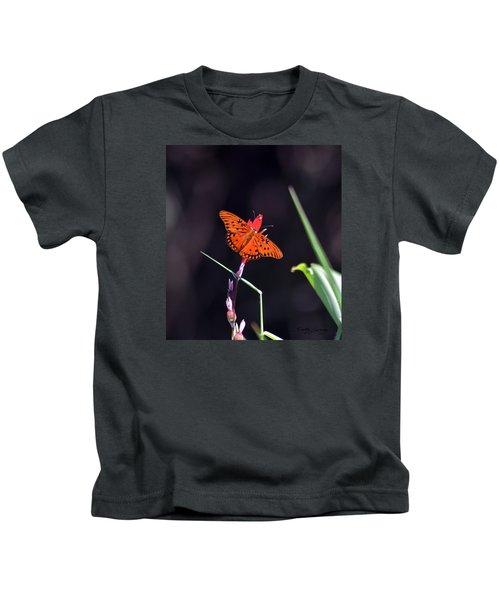 Gulf Fritillary Butterflyl Kids T-Shirt