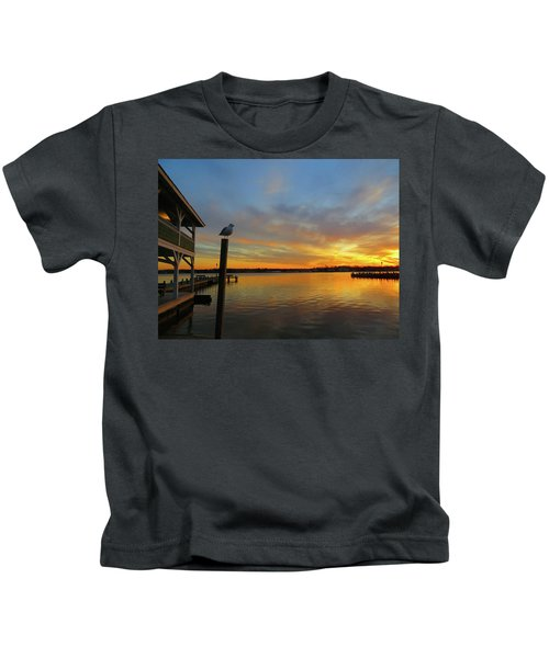 Gull Sunset Kids T-Shirt