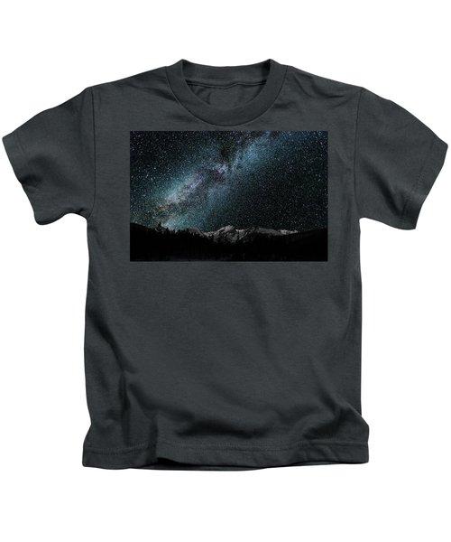 Hallet Peak - Milky Way Kids T-Shirt