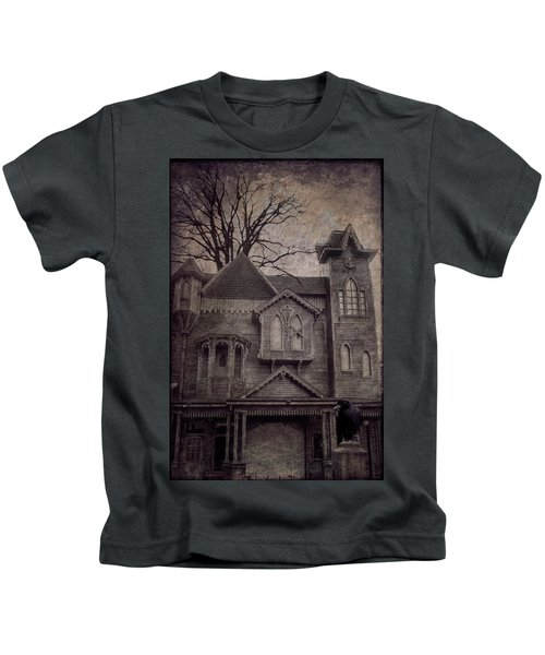 Halloween In Old Town Kids T-Shirt
