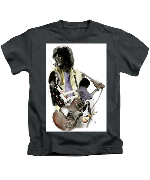 Hammer Of The Gods   Jimmy Page Kids T-Shirt by Iconic Images Art Gallery David Pucciarelli
