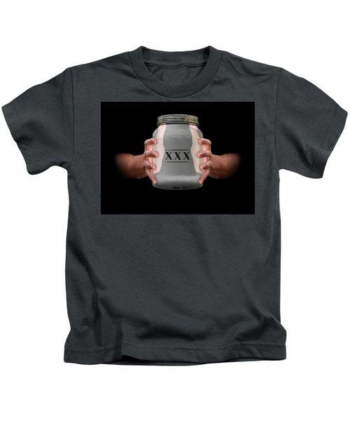 Hands Holding Moonshine Kids T-Shirt