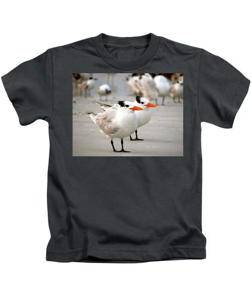 Hanging Out On The Beach Kids T-Shirt