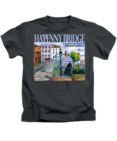 Hapenny Bridge Ireland Shirt Kids T-Shirt