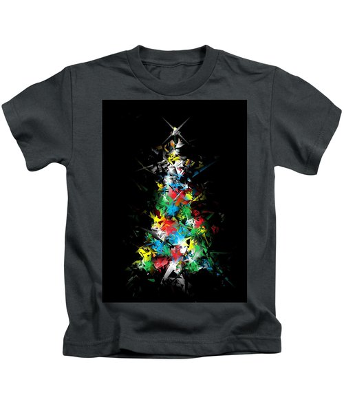 Happy Holidays - Abstract Tree - Vertical Kids T-Shirt