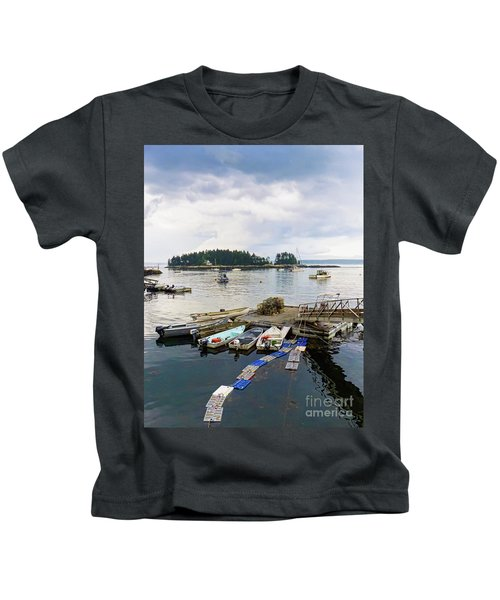 Harbor At Georgetown Five Islands, Georgetown, Maine #60550 Kids T-Shirt