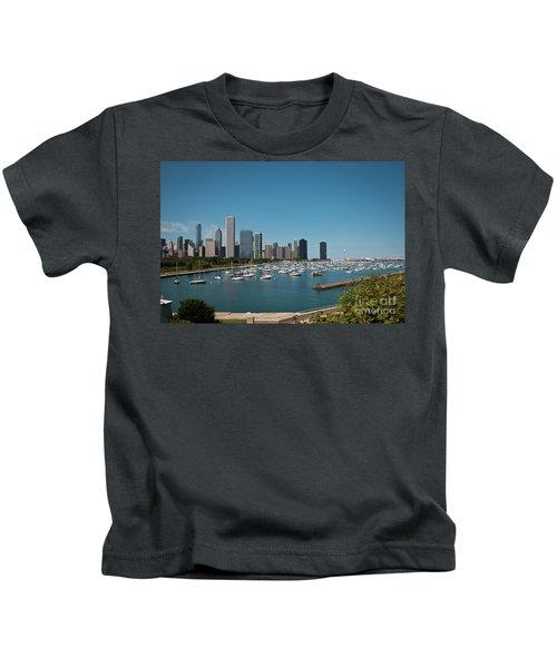 Harbor Parking In Chicago Kids T-Shirt