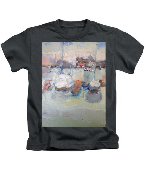 Harbor Sailboats Kids T-Shirt