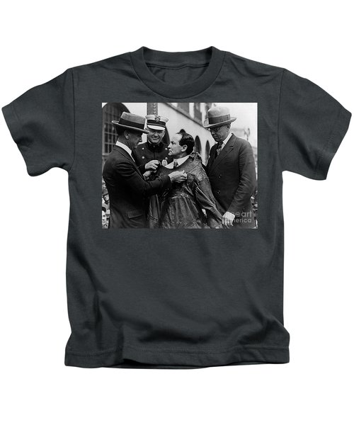 Harry Houdini Being Fitted Into A Straitjacket Kids T-Shirt